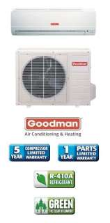 Btu 13 Seer Goodman Single Zone Mini Split Heat Pump AC System