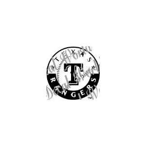 TEXAS RANGERS TEAM MLB 10 LOGO WHITE VINYL DECAL STICKER