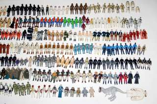 367 Vintage Star Wars Action Figures Huge Lot weapons accessories