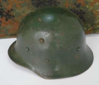 WWII ORIGINAL GERMAN TYPE M36 COMBAT STEEL HELMET