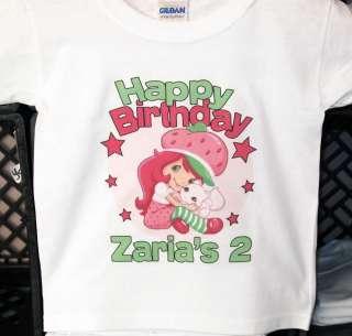 Personalized Strawberry Shortcake Birthday Shirt