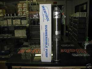 NEW WEBTROL 1 HP 10 GPM SUBMERSIBLE WATER WELL PUMP