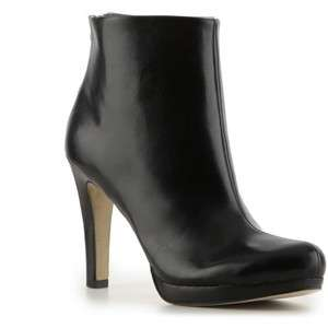 Franco Sarto Womens Lustre Black/Brown Leather Ankle Boot