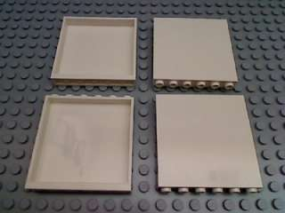 LEGO Lot of 4 WHITE WALL PANEL 1x6x5 House Build Parts