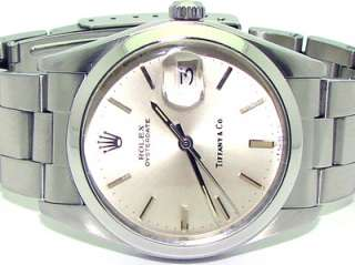 Vintage Gents Rolex Steel Automatic Oyster Date Watch 6694 Tiffany