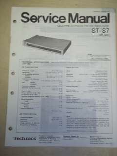 Technics Service/Repair Manual~ST S7 Stereo Tuner