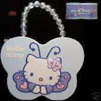 Hello Kitty Metal Butterfly Purse Tin (Tote) L393