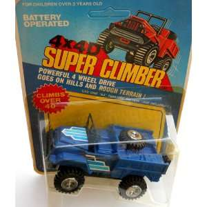 Climber Blue Pickup Truck 1982 Soma Battery Operated