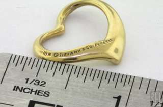TIFFANY & CO ELSA PERETTI LOVELY 18K GOLD OPEN HEART CHARM/PENDANT