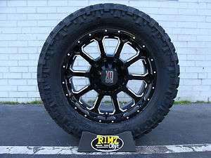 Black 285/65R18 Nitto Trail Grappler MT Tires 33 GM Dodge JK
