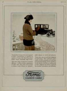 1924 FORD CAR AUTO AD / CLOSED CARS ARTISTS: G. HARPER
