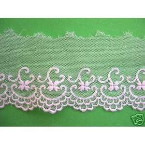 Cotton Netting Lace Edging Trim Oyster White Sold By The