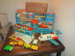 VTG Fisher Price Little People Play Airport Set 996 O