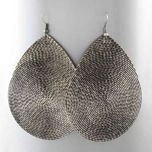 Textured Cool and Unusual Tear Drop Shaped Dangle Earrings Jewelry