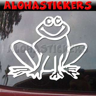 HAPPY FROG Vinyl Decal Car Truck Window Sticker B161