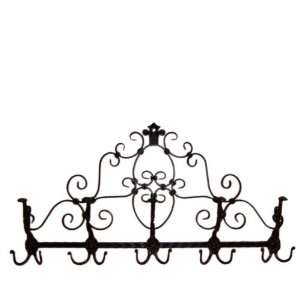 Jackson Gate Wrought Iron Coat Rack  Home & Kitchen