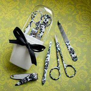 Damask Personal Grooming Manicure Set Wedding/Bridal Shower Favors