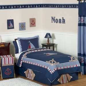 Nautical Nights Boys Sailboat Childrens Bedding   3pc Full