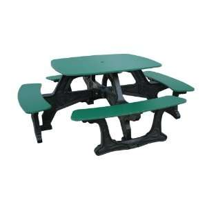Bistro Style Recycled Plastic Picnic Table Patio, Lawn