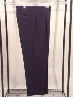 black Savane dress pants slacks pleat front L 38 x 32