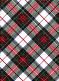 WHITE TARTAN PLAID GIFT WRAPPING PAPER  Large 6 Sheet