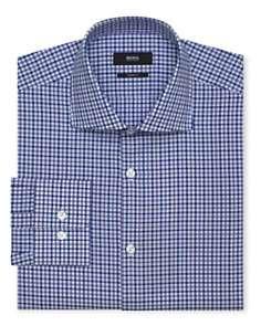 BOSS Black Miles Tattersall Plaid Dress Shirt   Contemporary Fit