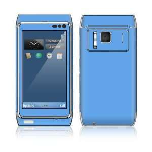 Blue Decorative Skin Cover Decal Sticker for Nokia N8 cell phone