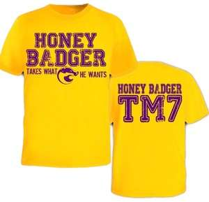 LSU Honey Badger Takes What He Wants TM7 Football F & B Funny Jersey T