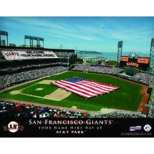 Personalized San Francisco Giants Stadium Print Sports