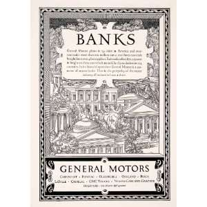 1927 Ad Banks General Motors Chevrolet Pontiac Railroad