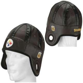 Reebok Pittsburgh Steelers Faux Leather Helmet Head Cap