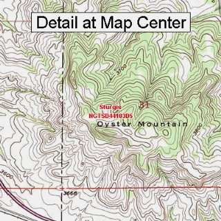USGS Topographic Quadrangle Map   Sturgis, South Dakota (Folded