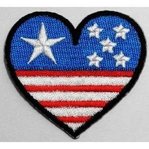 com SALE Cheap 1.9 x 2.2 Heart Love USA Flag Clothing Jacket Shirt