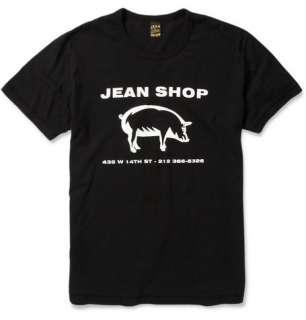 Clothing  T shirts  Crew necks  Logo Print Jersey T Shirt