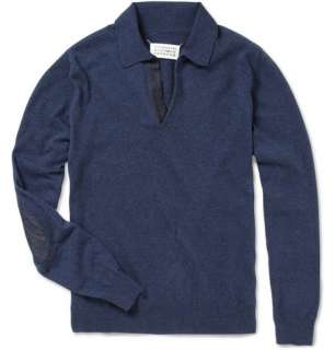 Maison Martin Margiela Denim Elbow Patch Sweater  MR PORTER