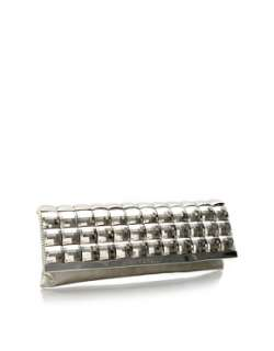 Fiorelli  Fiorelli Platinum Studded Metallic Clutch at ASOS