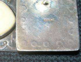 Sterling Silver Large Earrings w Stones 12.7g