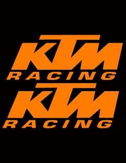 KTM RACING DECAL STICKER MOTORCYCLE MX MOTOCROSS SX QUAD ATV