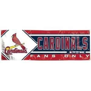 MLB St Louis Cardinals Banner   2x6 Vinyl Sports