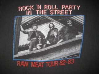 VTG AXE 1982 RAW MEAT TOUR T SHIRT OFFERING y&t krokus