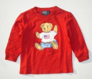 NWT New Ralph Lauren Polo Boys Bear Logo Shirt sz 12m