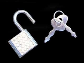 NEW Small Metal Padlock Mini SILVER Tiny Box Lock Key