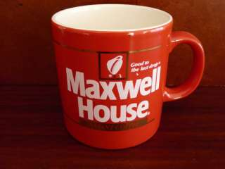 MAXWELL HOUSE BRIGHT RED COFFEE MUG ENGLAND AwEsOmE