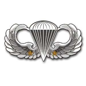 US Army Basic 2 Comba Jump Wings Decal Sicker 5.5