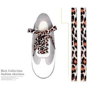 Fashion Leopard printed Shoe laces/Tiger/zebra (Leopard