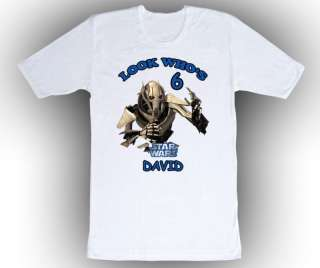 Personalized Star Wars General Grievous Birthday Shirt