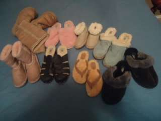 HUGE LOT OF 8 UGG BOOTS SHOES SANDALS WOMENS CHILDREN TODDLER SZ 9 5