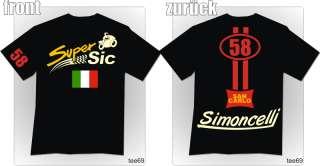 58 Marco Simoncelli shirt moto gp biker t shirt NEU