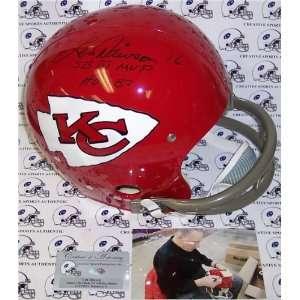 Len Dawson Autographed/Hand Signed Kansas City Chiefs 2 Bar TK Helmet
