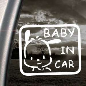 BABY POCHACCO IN CAR ON BOARD Decal Window Sticker